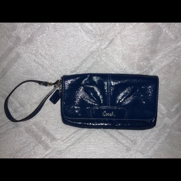 Coach Handbags - Coach Ashley Patent Leather Wallet